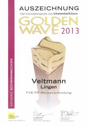 hierdurch ausgezeichnet: GoldenWave Schwimmbecken 2013