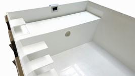 Gartenbad Sitzbank Treppe