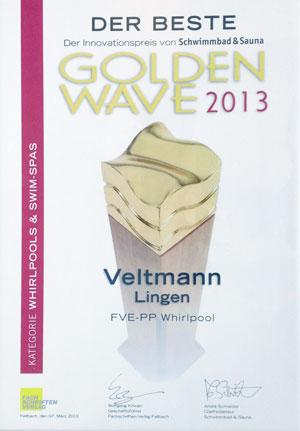 Der Beste somit Gewinner des GoldenWave 2013 - Whirlpools