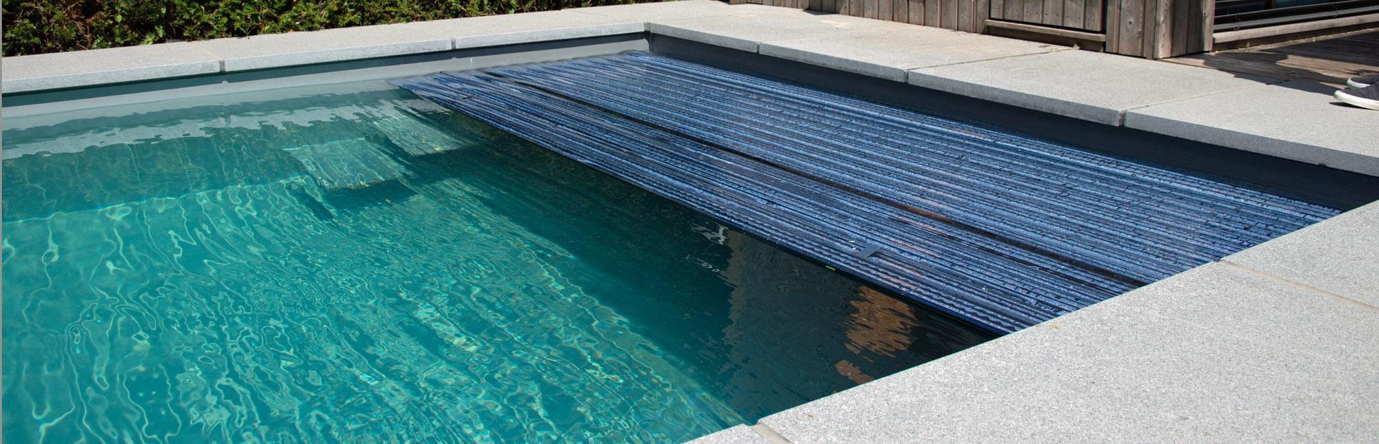 Ebenfalls mit Solar Profilen. Kindersicher wird das Schwimmbecken mit 83 mm Profilen.