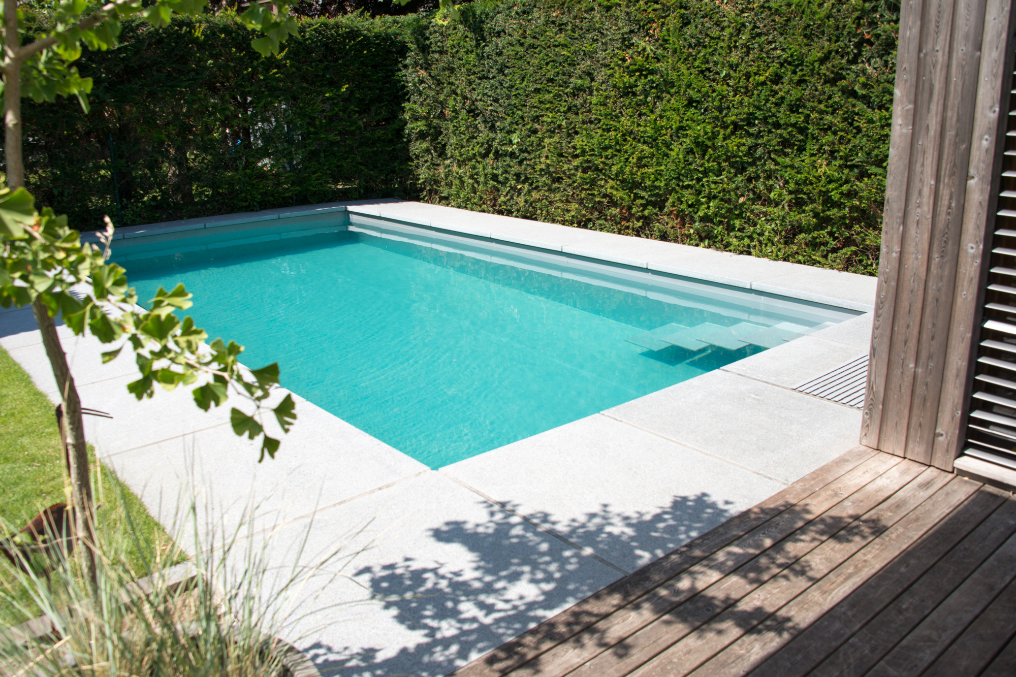 Design Schwimmbecken in Perlmutt