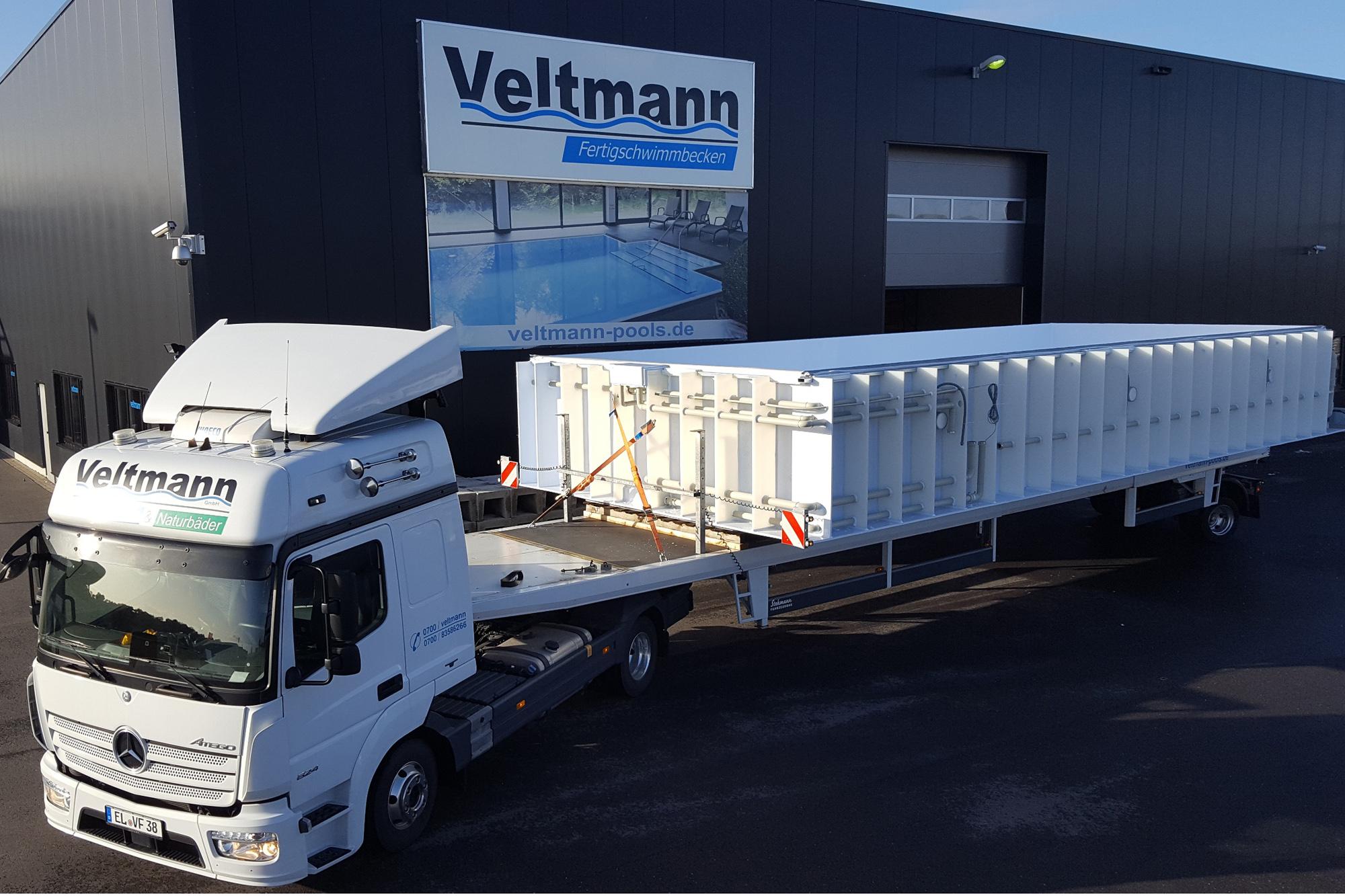 Veltmann Schwimmbecken Transport