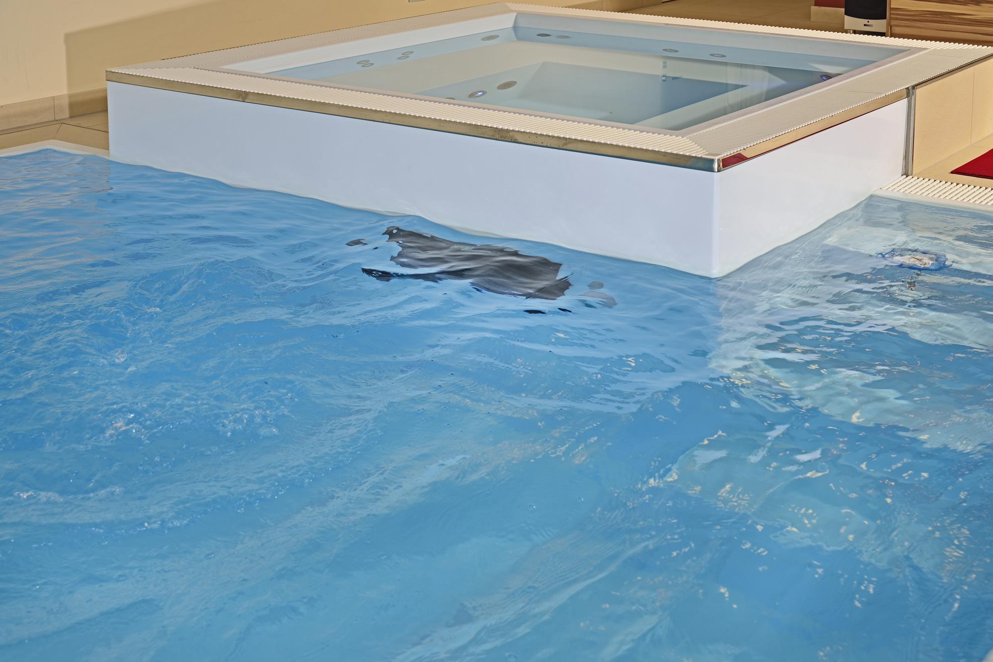 swinstream Gegenstromanalage das heisst schwimmen gegen mindestens 1.000.000 Liter Wasser pro Stunde