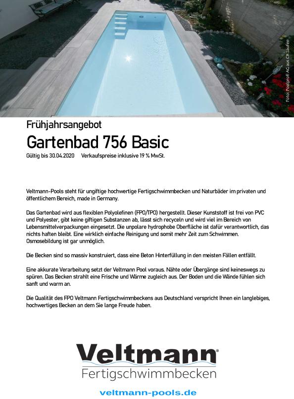 Download des Preisblattes Gartenbad 756 Basic